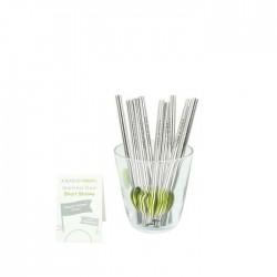 Stainless Steel Short Straws - Bulk Pack of 20