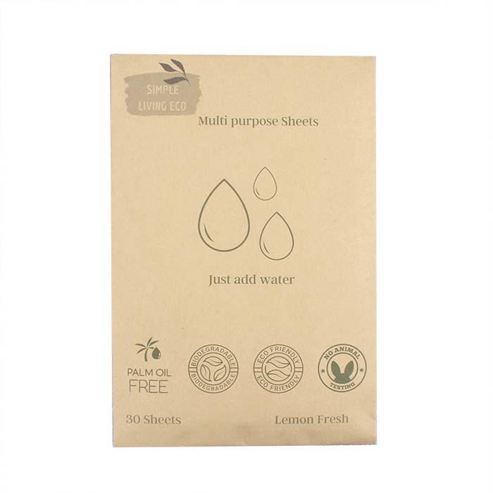 Multi Purpose Cleaner Sheets - Pack 30 - Lemon Fresh