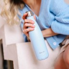 Insulated Stainless Steel Bottle - Pastel Blue - 500ml