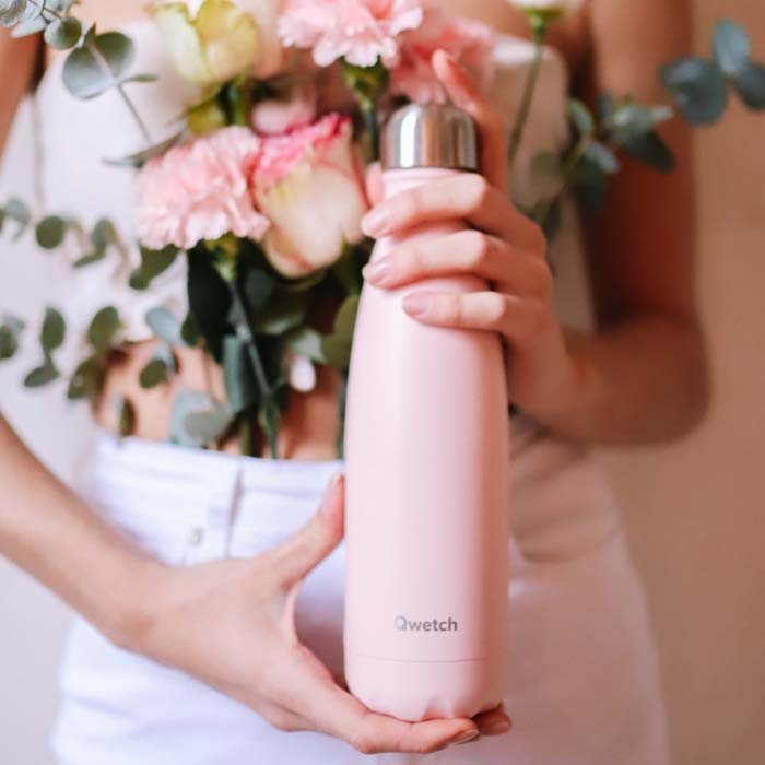 Insulated Stainless Steel Bottle - Pastel Pink - 500ml