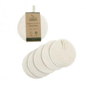 Organic Cotton Facial Pads - Pack of 5