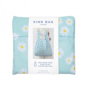 Medium Reusable Shopping Bag - Blue Daisy
