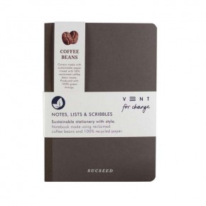 'Sucseed' A5 Reclaimed Coffee Beans Notebook