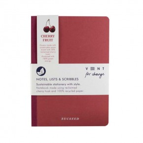 'Sucseed' A5 Reclaimed Cherry Fruit Notebook