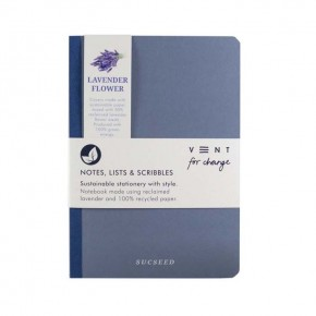 'Sucseed' A5 Reclaimed Lavender Flower Notebook
