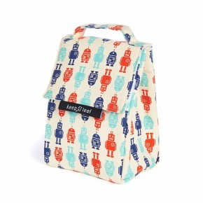 Black White Insulated Lunch Bag