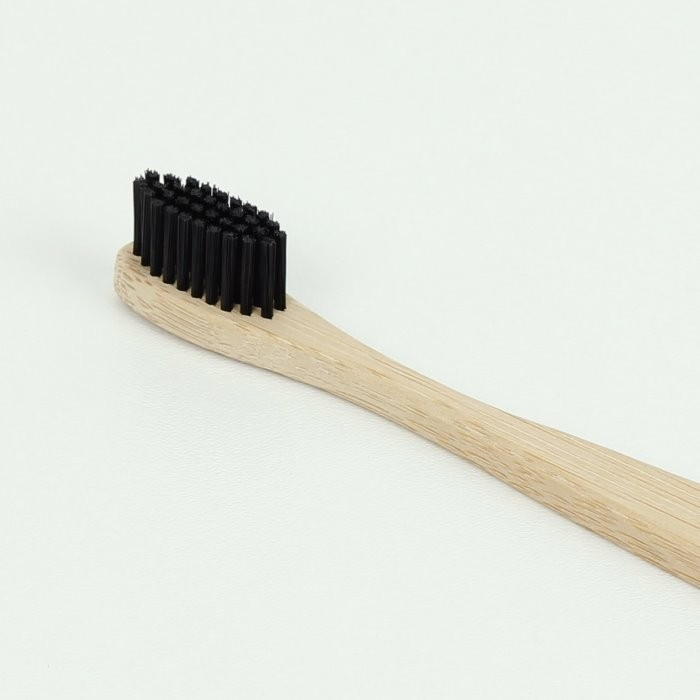 Bamboo 'Carbon' Toothbrush with Charcoal Bristles (Soft)