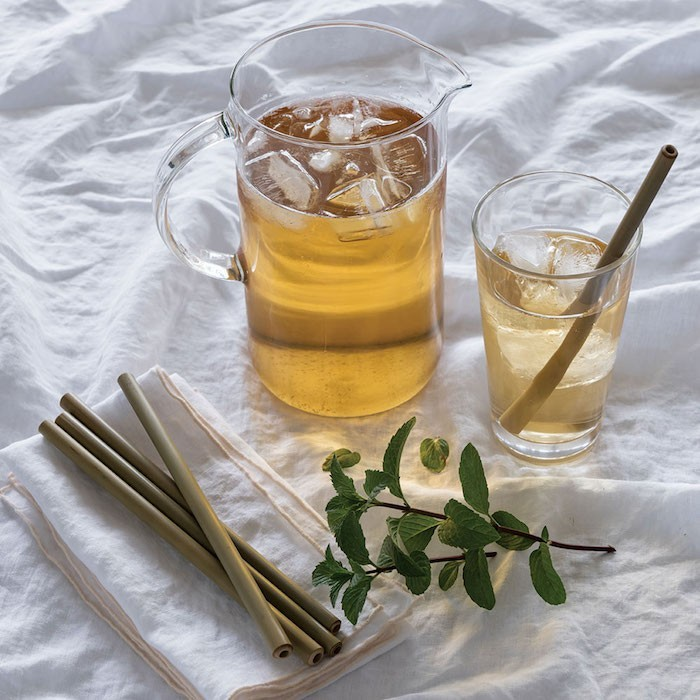 Bamboo Straws in Use