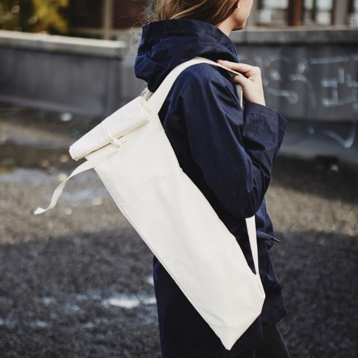Reusable Baguette Bag in Use