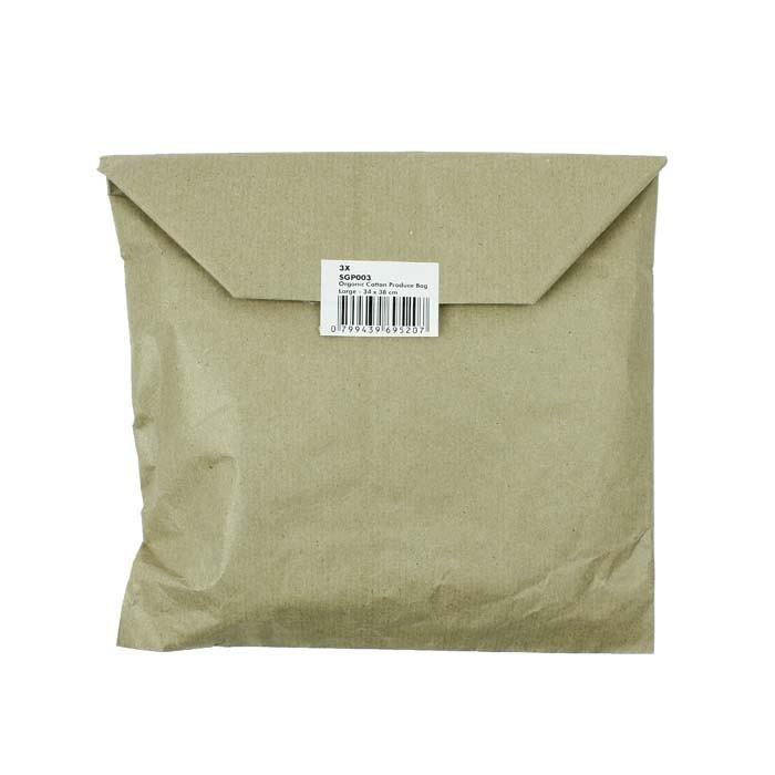 Organic Cotton Produce Bag - Large (34 x 38cm)