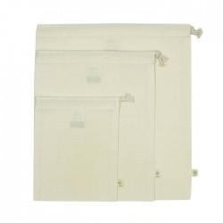 Organic Cotton Produce Bag Variety Pack - Set of 3