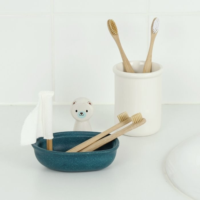 Bamboo 'Junior' Toothbrush with Bamboo Bristles - Group Shot