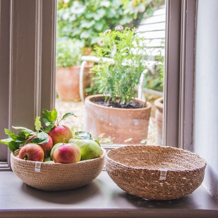 Jute & Seagrass Bowls - Natural - in Use
