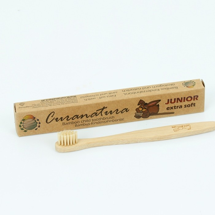 Bamboo 'Junior' Toothbrush with Bamboo Bristles - with packaging