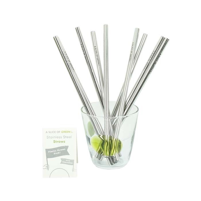 Stainless Steel Straws - Bulk Pack of 20