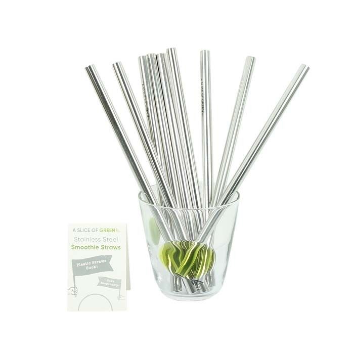 Stainless Steel Smoothie Straws - Bulk Pack of 20
