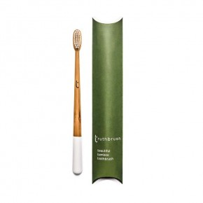 Truthbrush - Cloud White - Medium Castor Oil Bristles