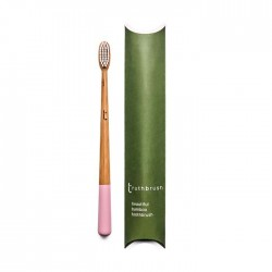 Truthbrush - Pink - Medium Castor Oil Bristles
