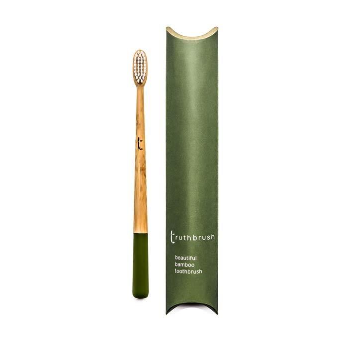 Truthbrush - Olive - Medium Castor Oil Bristles