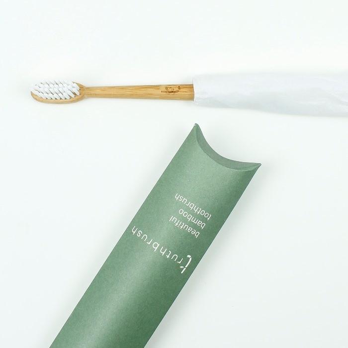 Truthbrush - Olive - Medium Castor Oil Bristles - in packaging