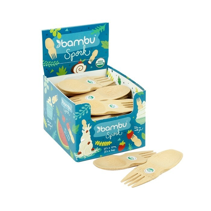 Spork in Display Box - open