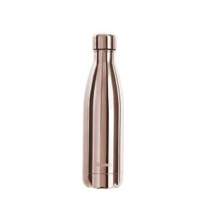 Insulated Stainless Steel Bottle - Rose Gold Metallic - 500ml