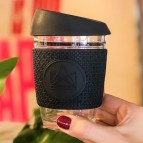 Glass Cup - Rock Star - Black - 12oz/340ml - in Use