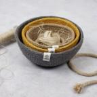 Jute Mini Bowl Set - Beach - with jute rope and thread