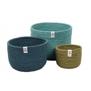 Tall Jute Basket Set -  Ocean