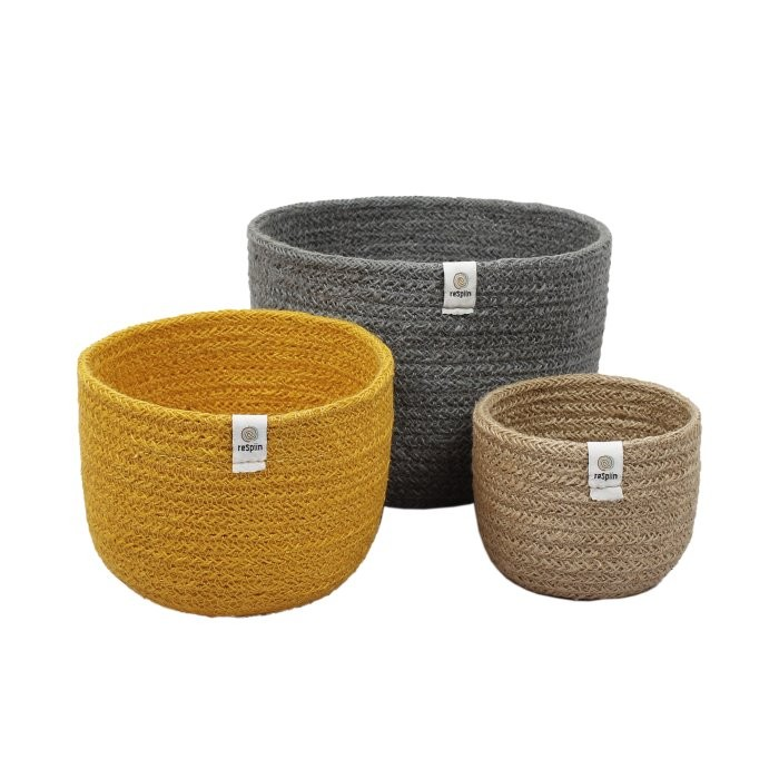 Tall Jute Basket Set - Beach