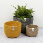 Tall Jute Basket Set - Beach - in Use