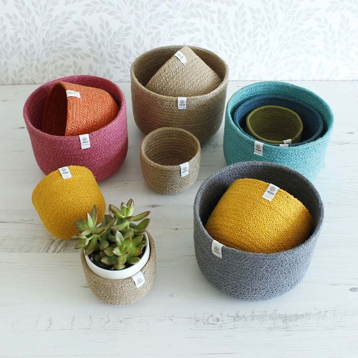 Tall Jute Basket Set - Group Shot