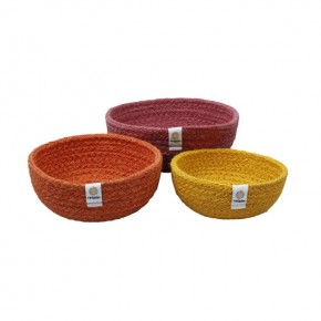Jute Mini Bowl Set - Fire