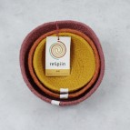 Jute Mini Bowl Set - Fire - with packaging