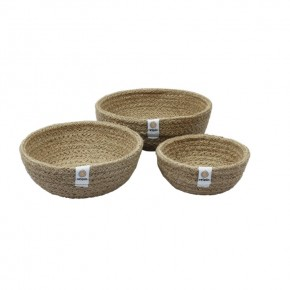 Jute Mini Bowl Set - Natural