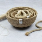 Jute Mini Bowl Set - Natural - with jute rope and thread