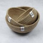 Jute Mini Bowl Set - Natural