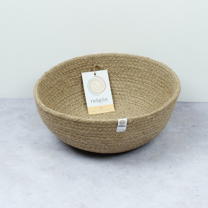 Jute Bowl - Large - Natural - with packaging