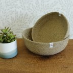Jute Bowls - Medium & Large - Natural