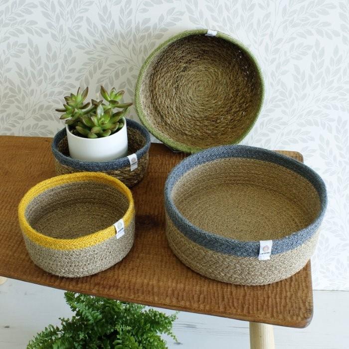 Shallow Seagrass & Jute Baskets - Group Shot