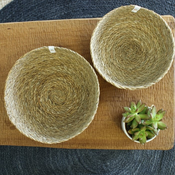 Seagrass Bowls - Medium & Large - Natural - from above