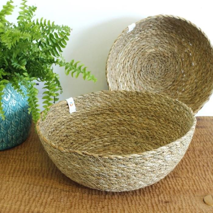 Seagrass Bowls - Medium & Large - Natural