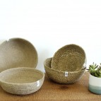Jute & Seagrass Bowls - Medium & Large - Natural