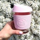 Glass Cup - Flamingo - Pink - 12oz/340ml