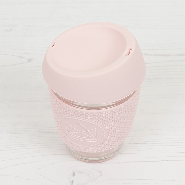 Glass Cup - Pink Flamingo - Pink - 12oz/340ml