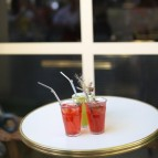 Stainless Steel Bent Straws - Brushed Steel - in Use