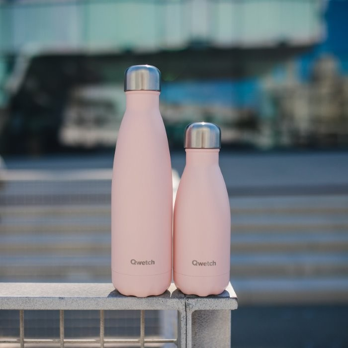 Insulated Stainless Steel Bottle - Pastel Pink - 260ml & 500ml