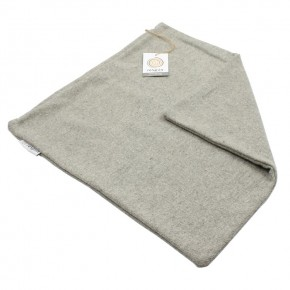 Plain Square Wool Cushion Cover - Light Grey