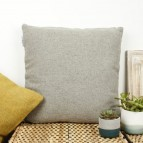 Plain Square Wool Cushion Cover with pad - Light Grey