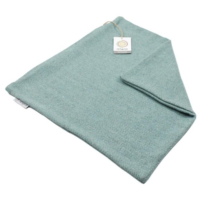 Zig Zag Square Wool Cushion Cover - Aqua